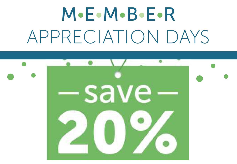 20% off memberships sale